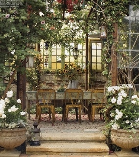beautiful places, chairs and conservatory