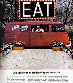 advertising, car and eat