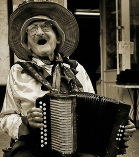 accordian, funny and old