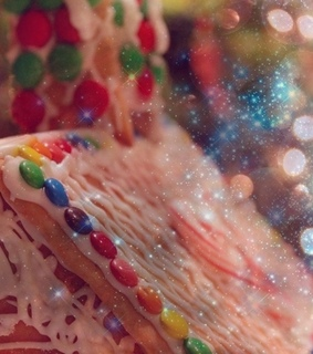 bokeh, candy and candycanes