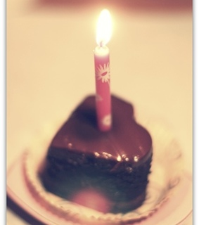 birthday, brown and cake
