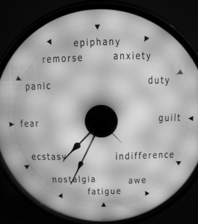 anxiety, awe and clock