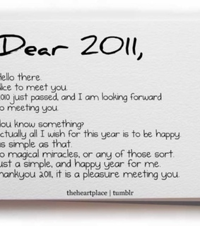 2011, happiness and hello