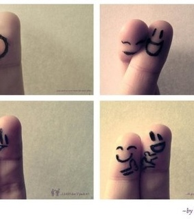 couple, fingers and heart