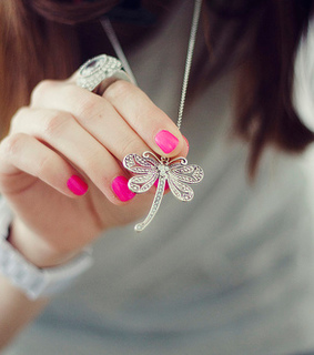 cool, crystal and dragonfly