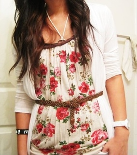 fashion, floral and girl