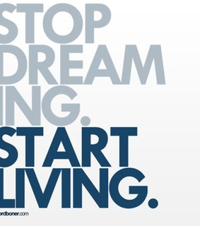 blue, quote and start living