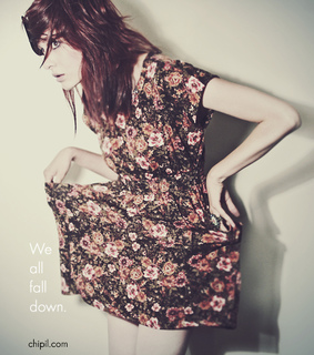 dress, fall down and girl