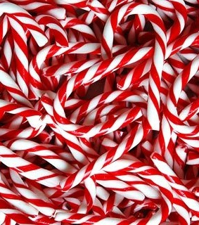 candy, candycanes and christmas