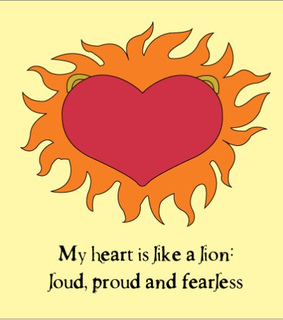 fearless, heart and lion