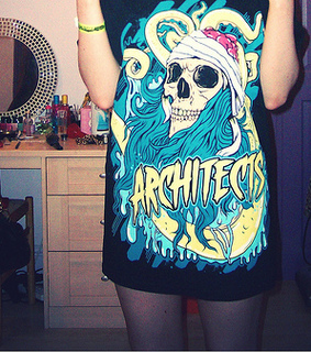 architects, band and girl