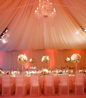 banquet, chandelier and tent