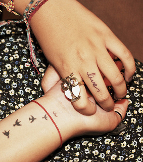 birds, font tattoo and font tattoos