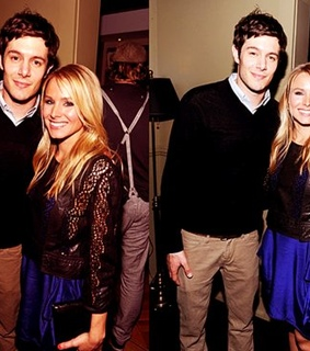 adam brody, kristen bell and smile