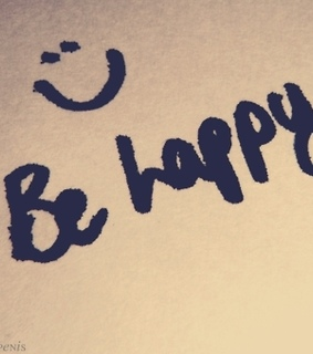 be happy, cute and happy