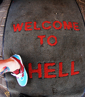 hell, tattoo and typograph