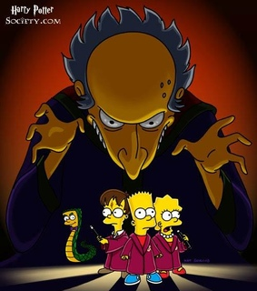 harry potter, mr burns and the simpsons