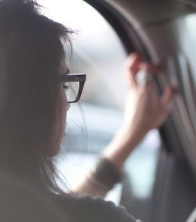 girl, glasses and in the car
