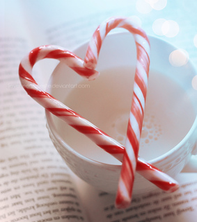 book, candy and candy cane