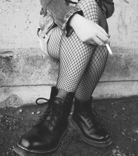 b & w, black and white and boots