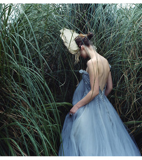 blue, blue gown and cute and fun