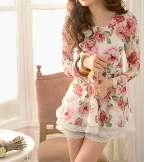 blouse, fashion and flowers