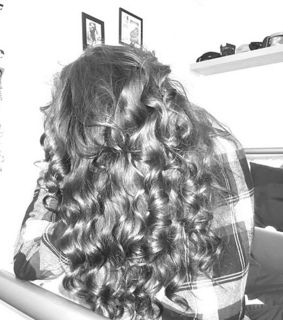 beautiful, bed and big curls