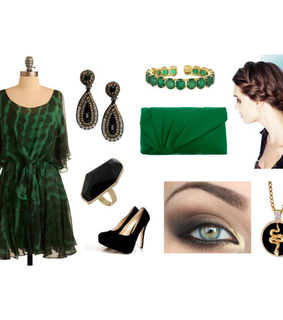 black and green, fashion and hogwarts