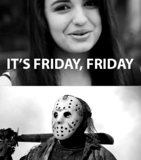 black and white, friday the 13th and jason