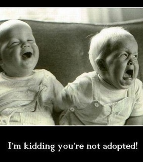 adopted, baby and funny