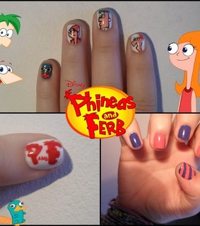 candace, disney and nail art