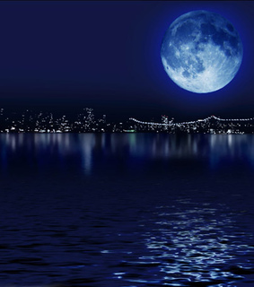beautiful, blue and blue moon