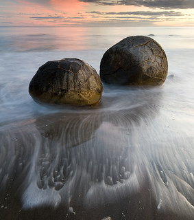 boulders, east coast of new zealand and from another planet