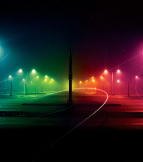 effects, multi-colored and road