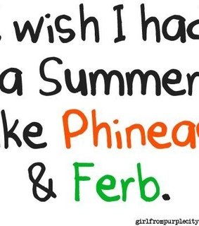 ferb, phineas and text