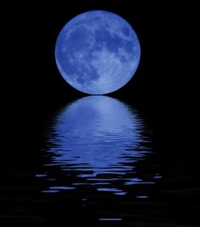 blue, blue moon and moon