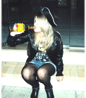 alone, black nail and blond