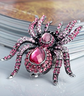 animal cocktail ring, crystal spider stretch ring and cubic zirconia spider ring