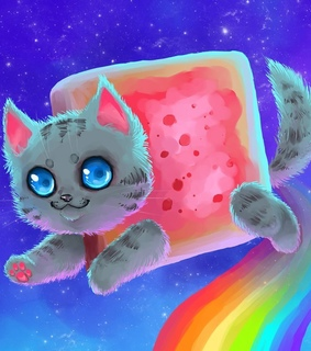 cute, funny and nyan cat