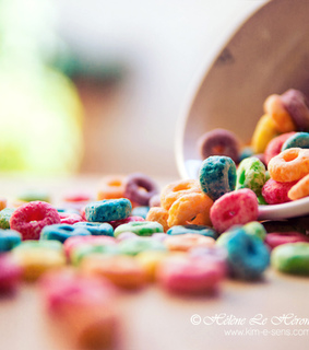 breakfast, cereal and colorful