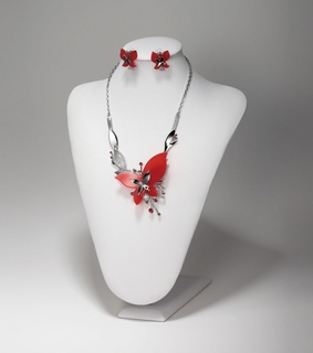 acrylic butterfly necklaces, acrylic jewelry set and butterfly jewelry set
