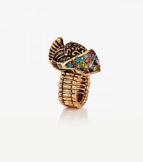 multicolor skull ring, rhinestone skull ring and skull cocktail ring