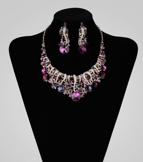 bridal necklace set, crystal bridal necklace set and crystal wedding jewelry