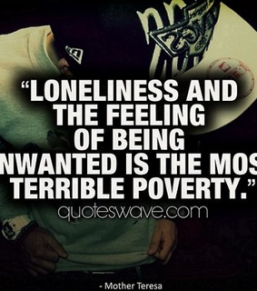 feelings quotes, loneliness and poverty