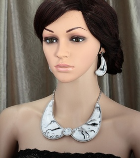 bib, bib necklace earring set and bib necklace earrings et