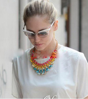 bib necklace, dualshine and exaggerated