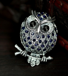 antique owl ring, owl cocktail ring and owl stretch ring