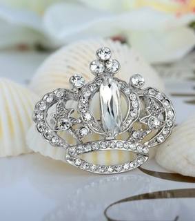 crown pin, crown pin brooch and crystal crown brooch