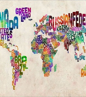 colors, countries and earth