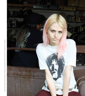 acid, alternative girls and bleched hair